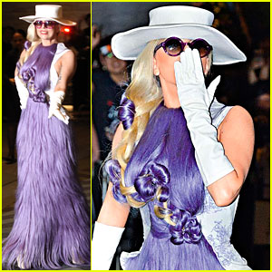 Lady Gaga: Hairy Dress Hong Kong Arrival