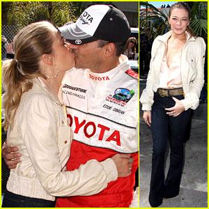 LeAnn Rimes & Eddie Cibrian: Kisses at the Race!