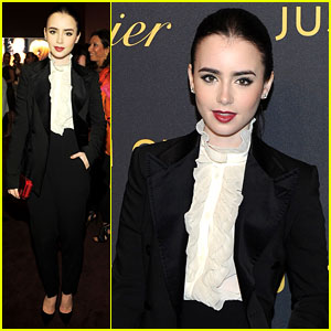 Lily Collins: Cartier in the 70s Party!