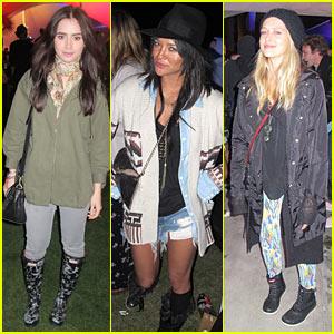 Lily Collins & Teresa Palmer: Coachella Cuties