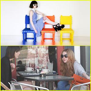 Lindsay Lohan: La Conversation Cafe with Aliana!