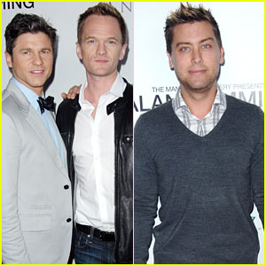 Neil Patrick Harris & Lance Bass: Alan Cumming Photo Exhibit!