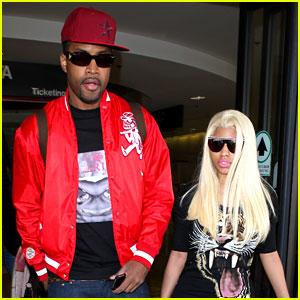 Nicki Minaj & Boyfriend Safaree Samuels: LAX Arrival!