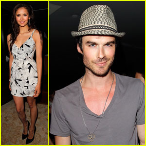 Ian Somerhalder & Nina Dobrev: 'Glamour' Book Party!