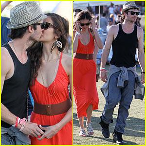 Ian Somerhalder & Nina Dobrev: Coachella PDA!