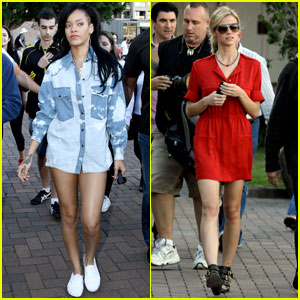 Rihanna & Brooklyn Decker: 'Battleship' on a Boat!
