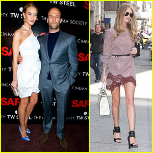 Rosie Huntington-Whiteley: 'Safe' Premiere with Jason Statham!
