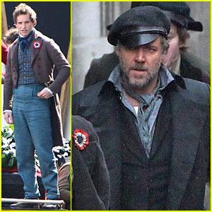 Russell Crowe & Eddie Redmayne: 'Les Miserables' Men!