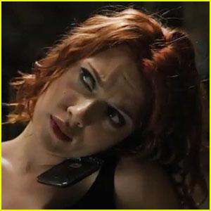 Scarlett Johansson's 'Avengers' Action Scene - Watch Now!