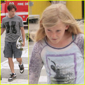 Stephen Moyer & Lilac: Daddy-Daughter Bonding Time!