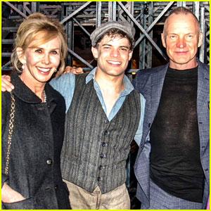 Sting & Trudie Styler Visit Broadway's 'Newsies'!
