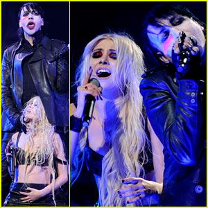 Taylor Momsen & Marilyn Manson: 'Revolver Golden Gods' Performance!