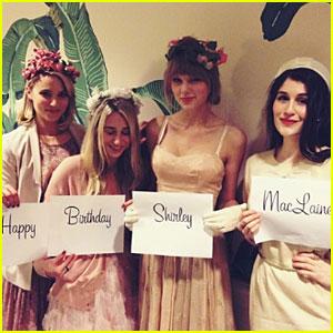 Taylor Swift & Dianna Agron: Shirley MacLaine's Birthday Celebration!