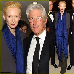Tilda Swinton: Venetian Heritage Gala with Richard Gere!