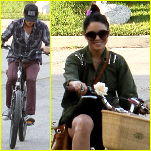 Vanessa Hudgens: Bike Riding with Austin Butler!