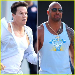 Mark Wahlberg: 'Pain And Gain' Set with Dwayne Johnson!