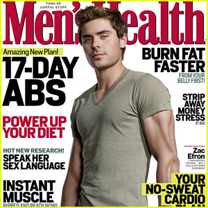 Zac Efron Covers Men's Health May 2012