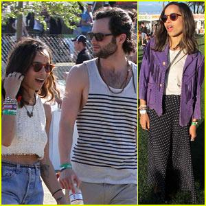 Zoe Kravitz & Penn Badgley Keep Cool At Coachella