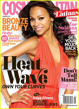 Zoe Saldana Covers 'Cosmopolitan for Latinas' Premiere Issue
