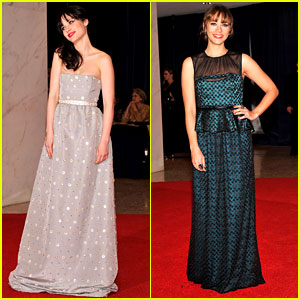Zooey Deschanel & Rashida Jones - White House Correspondents' Dinner 2012