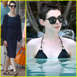 Anne Hathaway's Poolside Bikini Bod