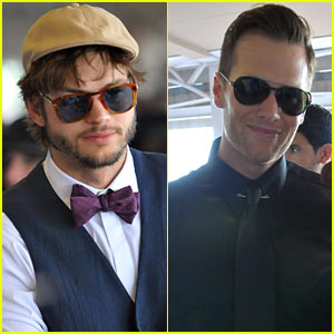 Ashton Kutcher & Tom Brady: Derby Dudes!