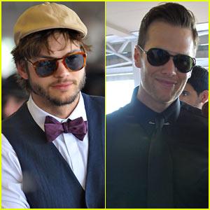 Ashton Kutcher & Tom Brady: Derby Dudes!