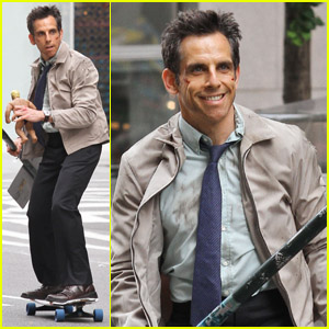 Ben Stiller: Skateboarding On Set!