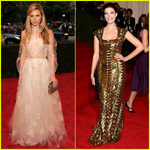 Brit Marling & Jessica Pare - Met Ball 2012