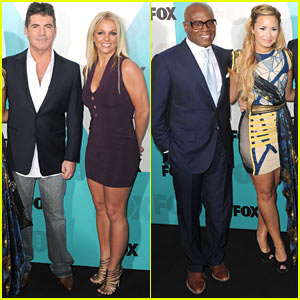 Britney Spears & Demi Lovato: 'X Factor' Judges at Fox Upfronts!