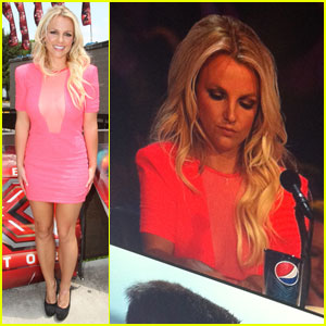 Britney Spears Inside 'X Factor' Audition - Exclusive Pic!