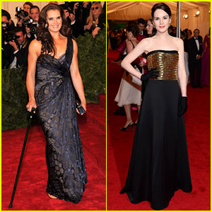 Brooke Shields & Michelle Dockery - Met Ball 2012