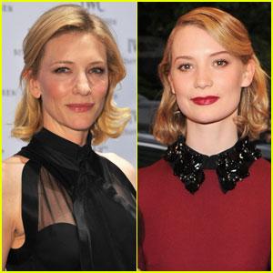 Cate Blanchett & Mia Wasikowska: 'Carol' Co-Stars
