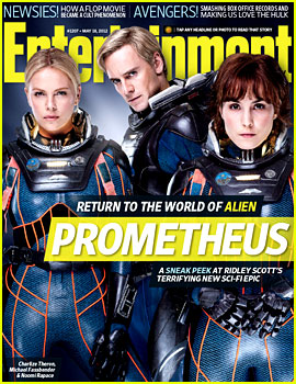 Charlize Theron: 'Prometheus' Covers 'Entertainment Weekly'