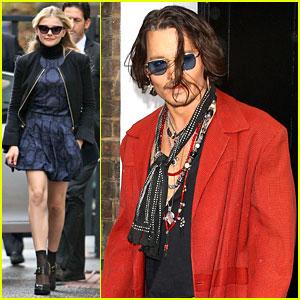 Chloe Moretz & Johnny Depp: 'Dark Shadows' Promo Tour!