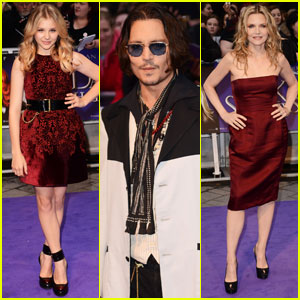 Johnny Depp & Chloe Moretz: 'Dark Shadows' UK Premiere!