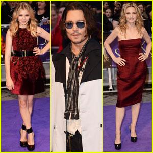 Johnny Depp & Chloe Moretz: 'Dark Shadows' UK Premiere!