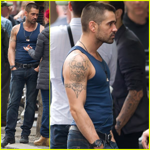 Colin Farrell: Bare Arms on 'Dead Man Down' Set