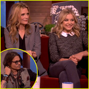 Chloe Moretz & Johnny Depp: 'Dark Shadows' on Ellen!
