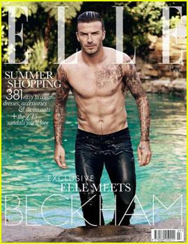 David Beckham Goes Shirtless for 'Elle UK'