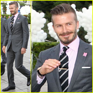David Beckham: Olympic Torch Handover in Athens