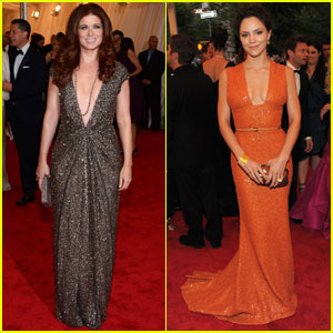 Debra Messing & Katharine McPhee - Met Ball 2012