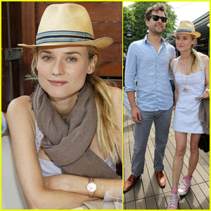 Diane Kruger: French Open with Joshua Jackson!