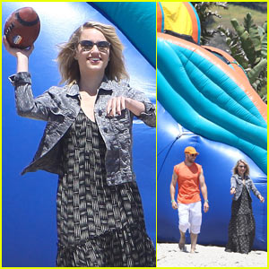 Dianna Agron: Memorial Day Football Game!