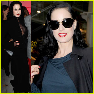 Dita Von Teese: Christian Louboutin London Exhibit!