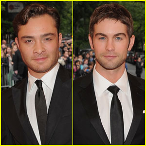 Chace Crawford & Ed Westwick - Met Ball 2012