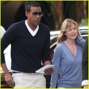 Ellen Pompeo: Lakers Game with Chris Ivery!
