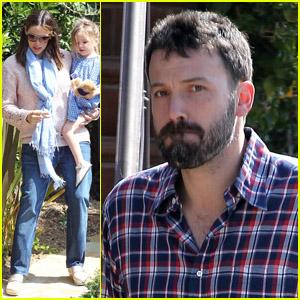 Jennifer Garner & Ben Affleck: Busy Saturday Morning