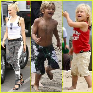 Gwen Stefani: Beach Day with the Boys