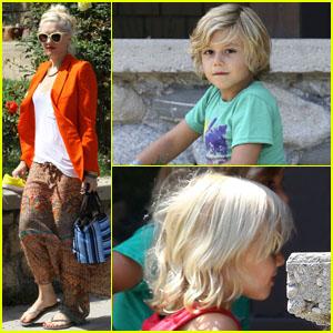 Gwen Stefani: Family Visit with Kingston & Zuma